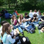Packet lunch sul prato